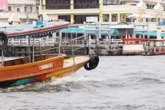 En le bateau Images stock