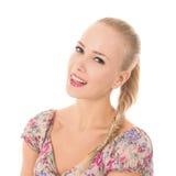 En le blondin arkivfoton