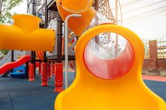 En lekplats för barn` s Fotografering för Bildbyråer