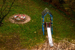 En lekplats i Neuss Arkivfoto