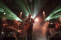 En levande konsert arkivbild