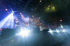 En levande konsert royaltyfri bild