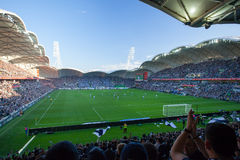 En-liga 2015 storslagna sista Melbourne Victory Vs Sydney FC Arkivfoton