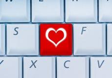 En ligne-datation Images stock