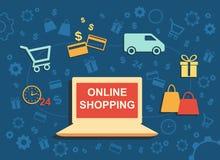 En ligne shoping Images stock