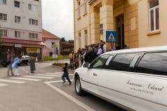 En limousine Arkivfoton