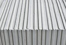 En linje modell på de konkreta panelerna Royaltyfri Bild
