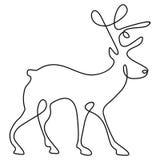 En linje teckning royaltyfri illustrationer