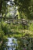 En liten bro i Giethoorn Royaltyfri Fotografi