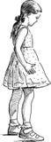 En liten flicka Arkivbild