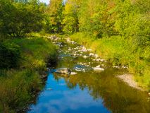 En liten flod nära mitt hem Royaltyfria Bilder