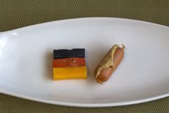 En liten frukost med en tysk brytning Royaltyfria Foton