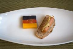 En liten frukost med en tysk brytning Arkivbild