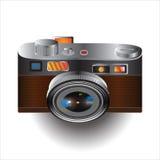 En liten kamera, gulligt, färgrikt som är lätt att bära Royaltyfri Foto
