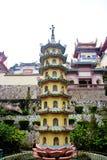 En liten kinesisk pagod Arkivbilder