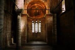 en liten kloster från insidan arkivfoto