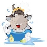 En liten ko cartoon royaltyfri illustrationer