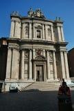 En liten kyrka i Rome royaltyfri foto