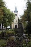 En liten kyrka i Tjeckien Arkivfoto