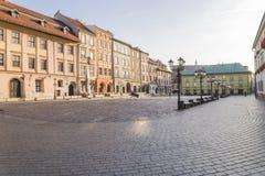 En liten marknad i Krakow Royaltyfria Bilder