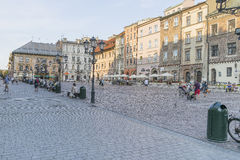 En liten marknad i Krakow Fotografering för Bildbyråer