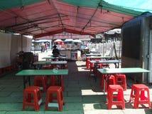 En liten restaurang i den sceniska fläcken Royaltyfria Foton