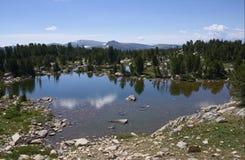 En liten sjö i de Beartooth bergen Fotografering för Bildbyråer