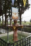 En liten springbrunn royaltyfria bilder