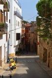 En liten stad i sydliga Spanien Arkivfoto
