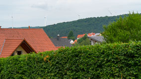 En liten stad i Tyskland Arkivbilder