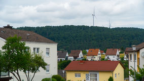 En liten stad i Tyskland Royaltyfria Bilder