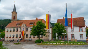 En liten stad i Tyskland Royaltyfri Bild