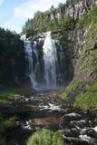 En liten vattenfall i Norge royaltyfri fotografi