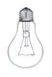 En ljus kula som isoleras på en vit bakgrund. Arkivfoton