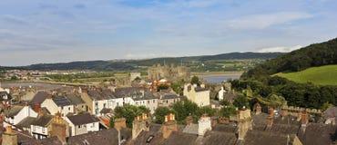 En ljus solig dag i Conwy, Wales Royaltyfria Bilder