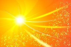 En ljus stjärna på kanten, från den kommer strålarna av spiralen, Arkivfoto
