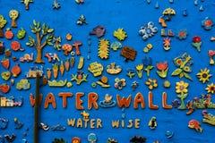 En ljust dekorerad väggmosaik Arkivbilder