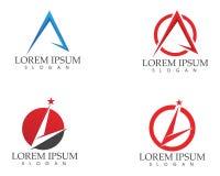 En Logo Business Template Vector för bokstavsframgångaffär symbol Royaltyfri Bild
