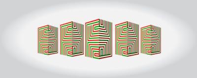 En logo för konstruktionsföretag Royaltyfri Bild