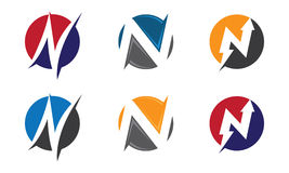 En Logo Template Arkivbild