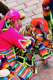 En lokal familj från Cusco Royaltyfri Foto