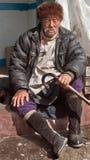 En lokal man från Sikkim Arkivfoton