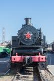 En lokomotiv med en röd stjärna Arkivfoton