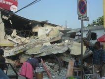 En los escombros de Haití Imagen de archivo libre de regalías