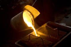 En los trabajos del hierro Fotos de archivo libres de regalías