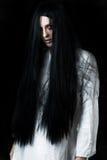 En läskig spökeflicka Royaltyfri Bild