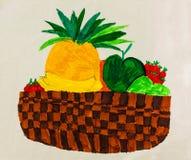 En lättrogen bild av frukt Royaltyfri Foto