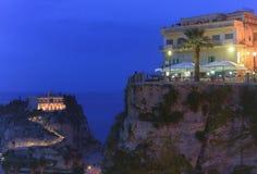 En lugna afton i Tropea - Calabria, Italien Royaltyfri Bild