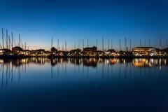 En lugna natt i Lefkas, Grekland Fotografering för Bildbyråer