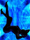 En luz azul Imágenes de archivo libres de regalías